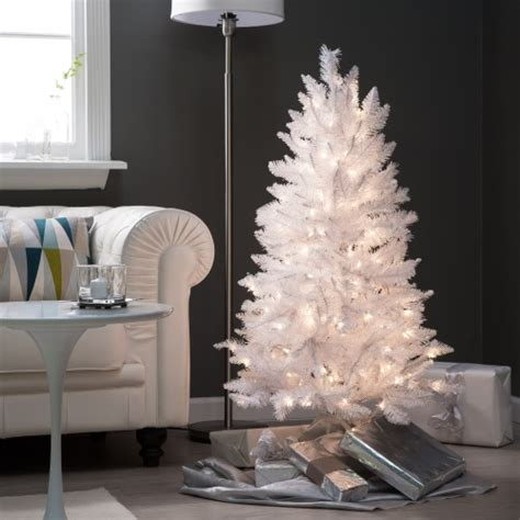 best 4 foot christmas tree 4 ft white tinsel tree trees at hayneedle