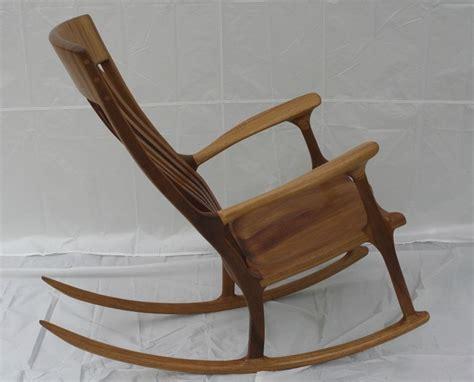 handmade iroko teak rocking chair by wood in