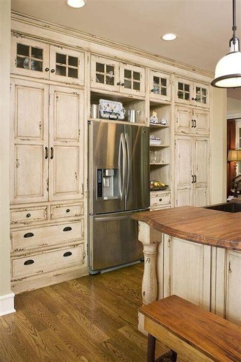 kitchen cabinets  refrigerator   storage space