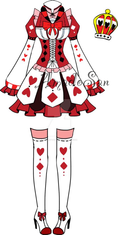 Victorian queen of hearts Outfit2 Adoptable CLOSED by AS-Adoptables | paint | Pinterest ...