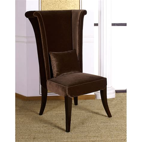mad hatter dining chair in brown velvet fabric dcg