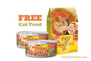 free cat food get free canned and cat food from friskies woof