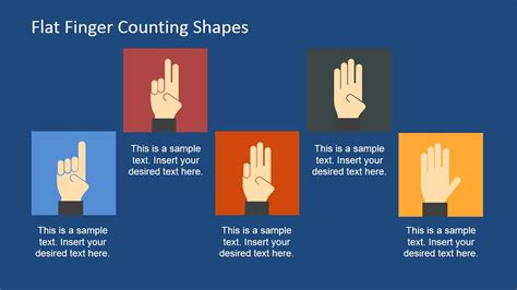 flat finger counting shapes  powerpoint slidemodel