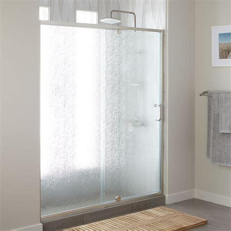 osborne adjustable pivot shower door  rain glass