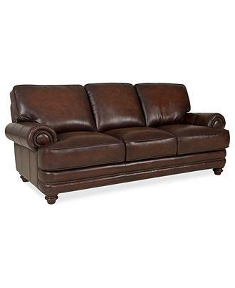brett leather sofa 91 quot w x 40 quot d x 32 quot h furniture macy