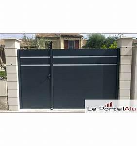 Portail Alu Battant 3m50 : portail battant alu moteur collection et portail alu ~ Dailycaller-alerts.com Idées de Décoration