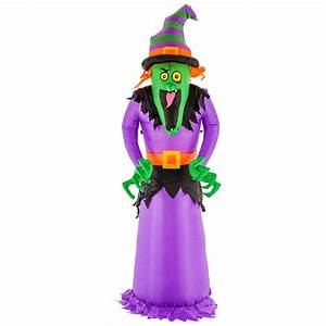 Halloween, Haunters, 8ft, Inflatable, Scary, Witch, Led, Yard, Lawn, Prop, Decoration, 848849002249