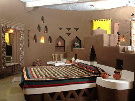 rajasthani mud hut interior  mud hut indian bedroom decor indian bedroom design indian