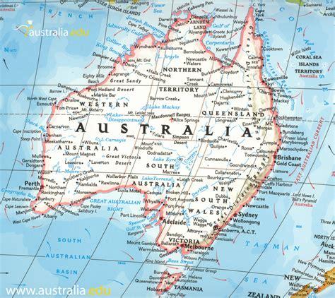 detailed travel map  australia maps