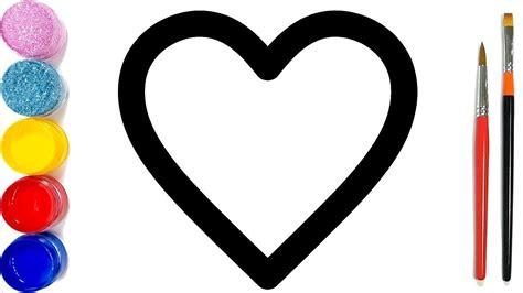 vẽ và tô màu câu đố hình trái tim cho trẻ em bé học tô