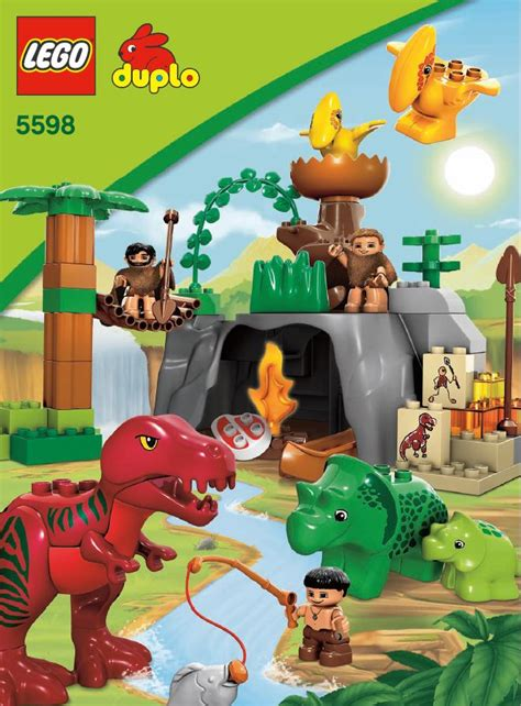 Lego Dino Valley Instructions 5598, Duplo