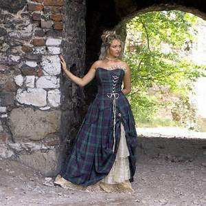 green tartan wedding dress women39s style With scottish tartan wedding dress