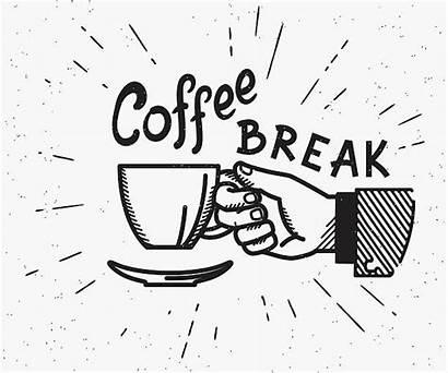 Coffee Break Retro Illustration Vector Cup Illustrations