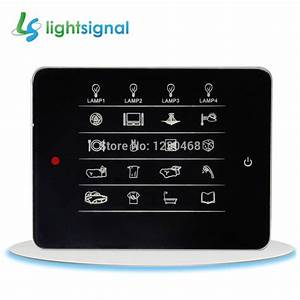 Smart Home Switch Touch Wall Switch Remote Control 64 Way Of Lamps In 16 Rooms