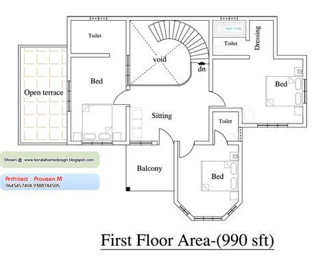 1000 Sq Ft House Plans 2 Bedroom Indian Style by 1000 Sq Kerala House Plans So Replica Houses