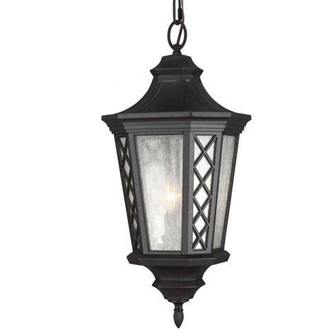 black lantern pendant light feiss wembley park collection 3 light textured black