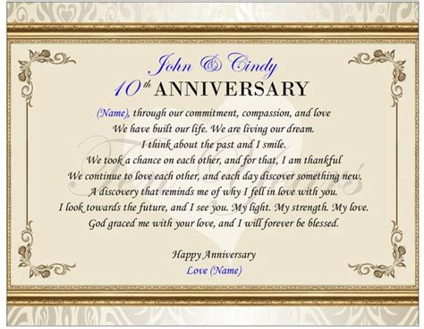 Free Anniversary Poem Picture by Personalized Poetry Gift Anniversary Present Picture Frame