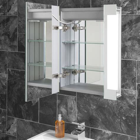 halo range  led bathroom mirror cabinets