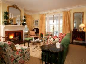 Southern Living Formal Living Rooms by Traditional Living Room With Floral Patterns Hgtv