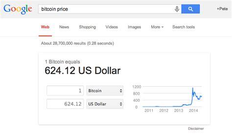 Bits, mbtc, satoshis, btc, usd calculator tool. Google Search Integrates Bitcoin Price Calculator