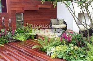 terrasse sans jardin nos conseils With modele de jardin avec galets 1 terrasse bois exotique jardin zen et fontaine youtube
