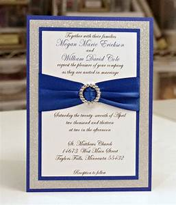 blue and silver wedding invitation with ribbon sang maestro With wedding invitation designs color blue