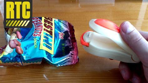 food sealer mini heat sealing machine  plastic bags youtube