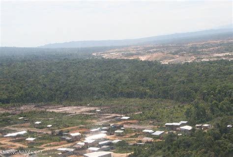 aerial view  slash  burn agriculture   amazon