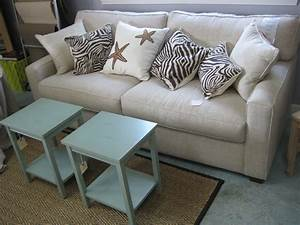 Modern sofa in natural linen posh living39s modern sofa for Modern contemporary linen sectional sofa with