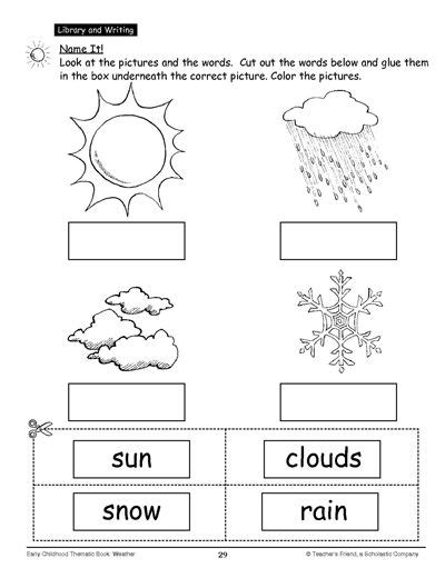 name it education weather and water cycle cut