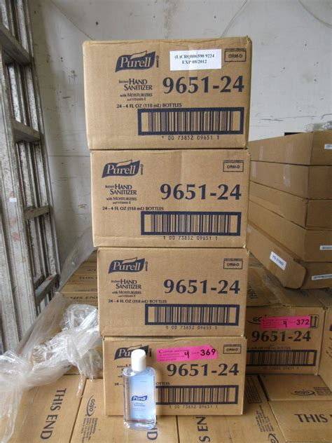 4 boxes of Purell hand sanitizer