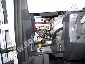 Obd2 Connector Location In Fiat 500  2007 -