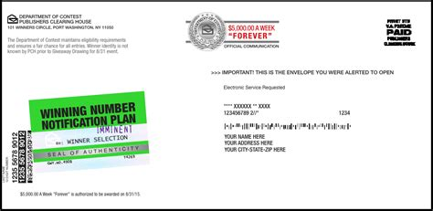 publishers clearing house return label   creative