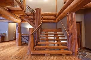 log cabin design plans entrances hallways stairs pioneer log homes of bc