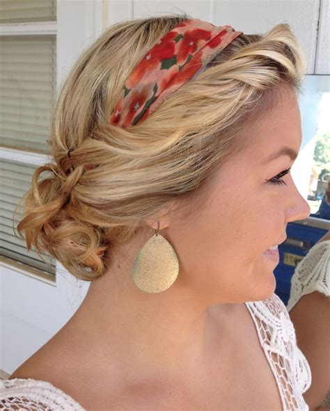 easy way to style hair top 10 easy scarf hairstyles for every hair length 4053