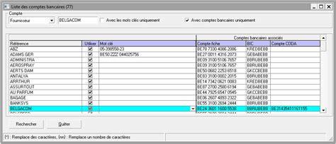 la table de correspondance des comptes bancaires help on line winbooks classic fr winbooks