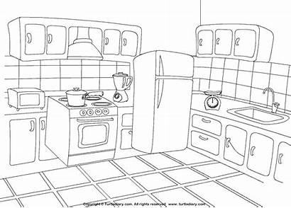 Coloring Kitchen Pages Colouring Printable Worksheets Worksheet
