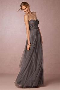 sweetheart tulle ruffle floor length long elegant grey With long grey dress for wedding