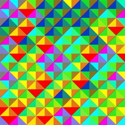 Psychedelic Weird Pattern Colorful Colours Triangles Patterns