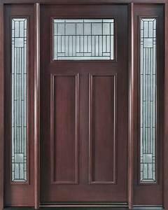Front Door Custom - Single with 2 Sidelites - Solid Wood