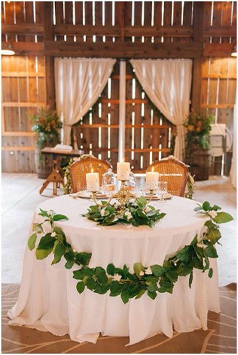 romantic wedding sweetheart table decoration ideas