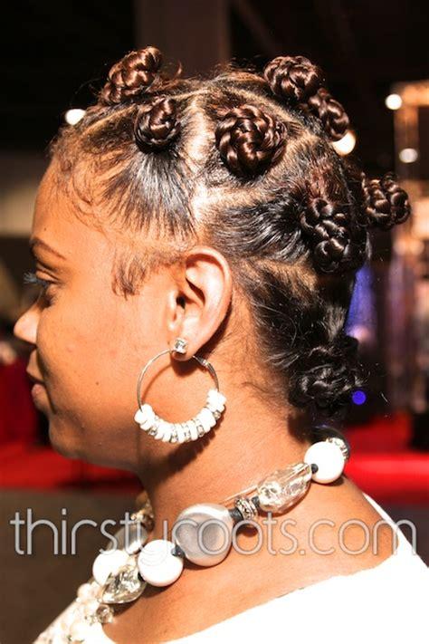 bantu knots  highlights