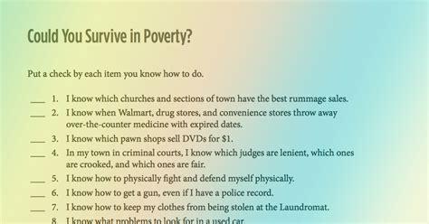 survive  poverty  quick questions famvin
