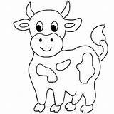 Cow Coloring sketch template