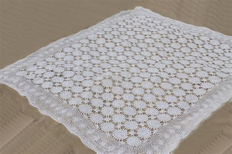 Lace Coverlet Bedding by Handmade Crochet Lace Bedspread Shabby Chic Vintage