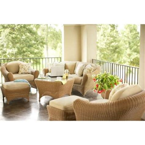 martha stewart living bay 6 wicker patio