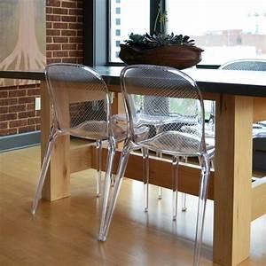 chaises transparentes pour une salle a manger contemporaine With chaise salle a manger transparente pour deco cuisine