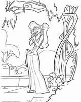 Coloring Disney Hercules Pages Sheets Megara sketch template