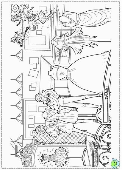 Coloring Barbie Pages Printable Fairytale Sheets Books