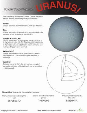uranus planet worksheet your planets uranus worksheet education